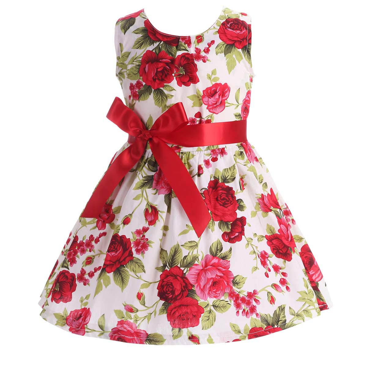 Floral Children Baby Dresses Girl Wedding Party Princess 1 Year Birthday Girls  Dress Cotton Summer 2017 Teenage Vestido Infantil 99cb9e5e91b3