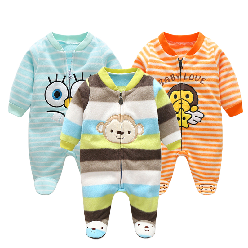 23c64817c Polar Fleece Baby Girl Clothes-Infant Baby Jumpsuits - in care of ...