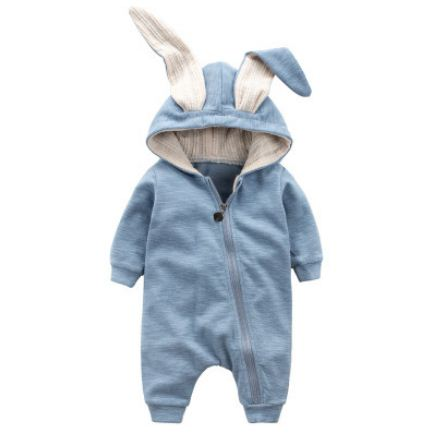 c95da82bc727 Cute Rabbit Ear Hooded Baby Rompers For Babies Boys Girls Clothes Newborn  Clothing Brands Jumpsuit Infant ...