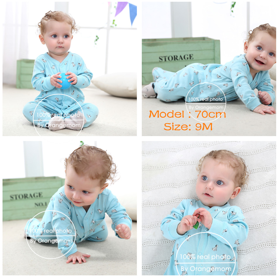 0e6c4fbc7 Pajamas   sleepwear baby boy girl clothes 100% cotton baby rompers ...
