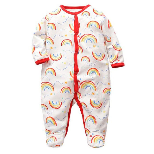 120f849b5da2 Pajamas   sleepwear baby boy girl clothes 100% cotton baby rompers ...