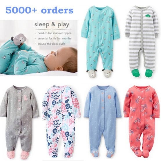 Pajamas & sleepwear baby boy/girl clothes 100% cotton ...