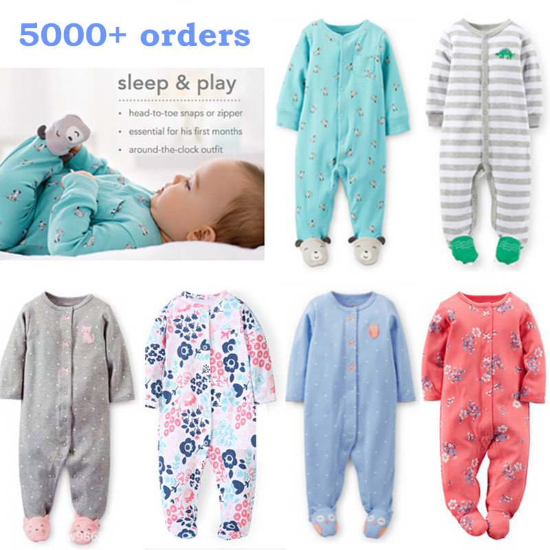 d6142eea3 Pajamas   sleepwear baby boy girl clothes 100% cotton baby rompers ...